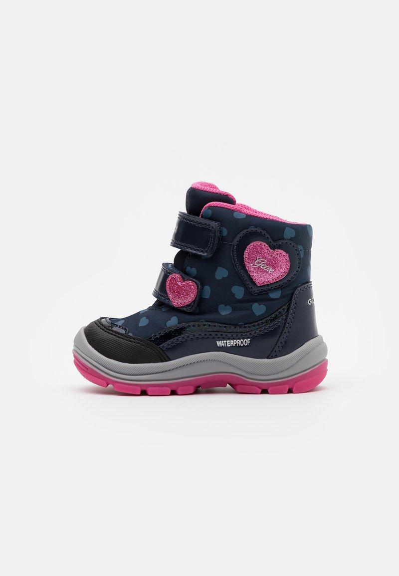Geox - FLANFIL GIRL WPF - Winter boots - navy/fuchsia