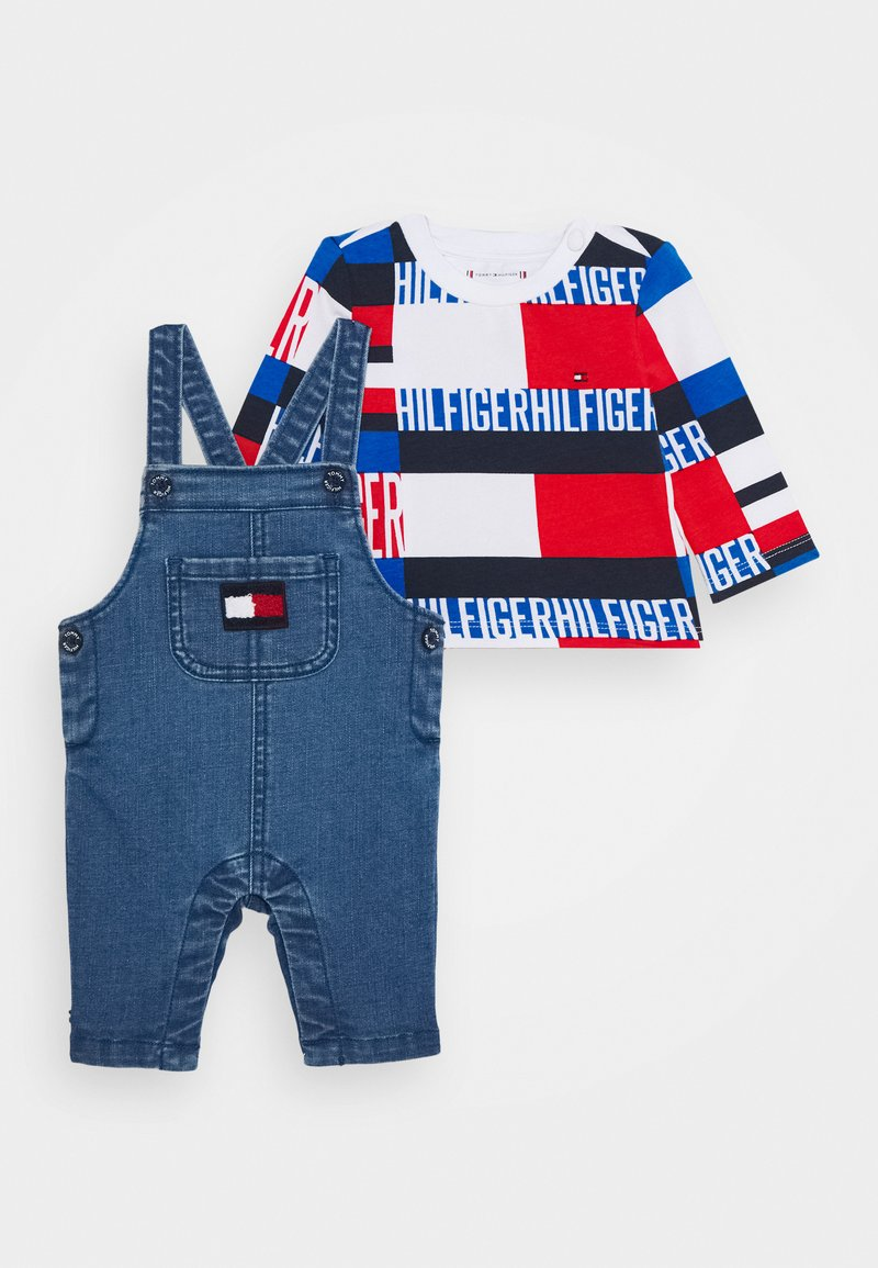 Tommy Hilfiger - BABY BOY DUNGAREE SET - Lacláče - denim
