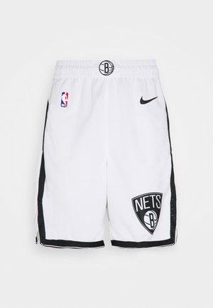 NBA BROOKLYN NETS SWINGMAN - Sports shorts - white