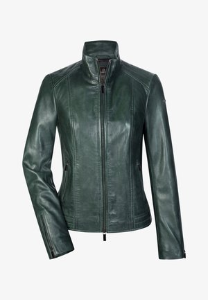 Leather jacket - dunkelgrün