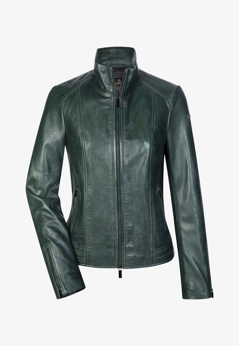 Milestone - Leather jacket - dunkelgrün