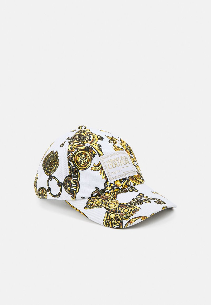 Versace Jeans Couture - BASEBALL WITH CENTRAL SEWING UNISEX - Cap - bianco/gold