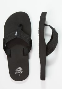 Reef - SMOOTHY - Sandaler m/ tåsplit - black - 1