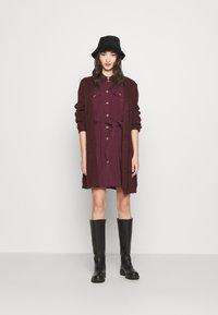 Vero Moda - VMCOCO DRESS  - Shirt dress - winetasting - 1