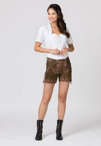 Stockerpoint - HARMONY - Leather trousers - brown - 1