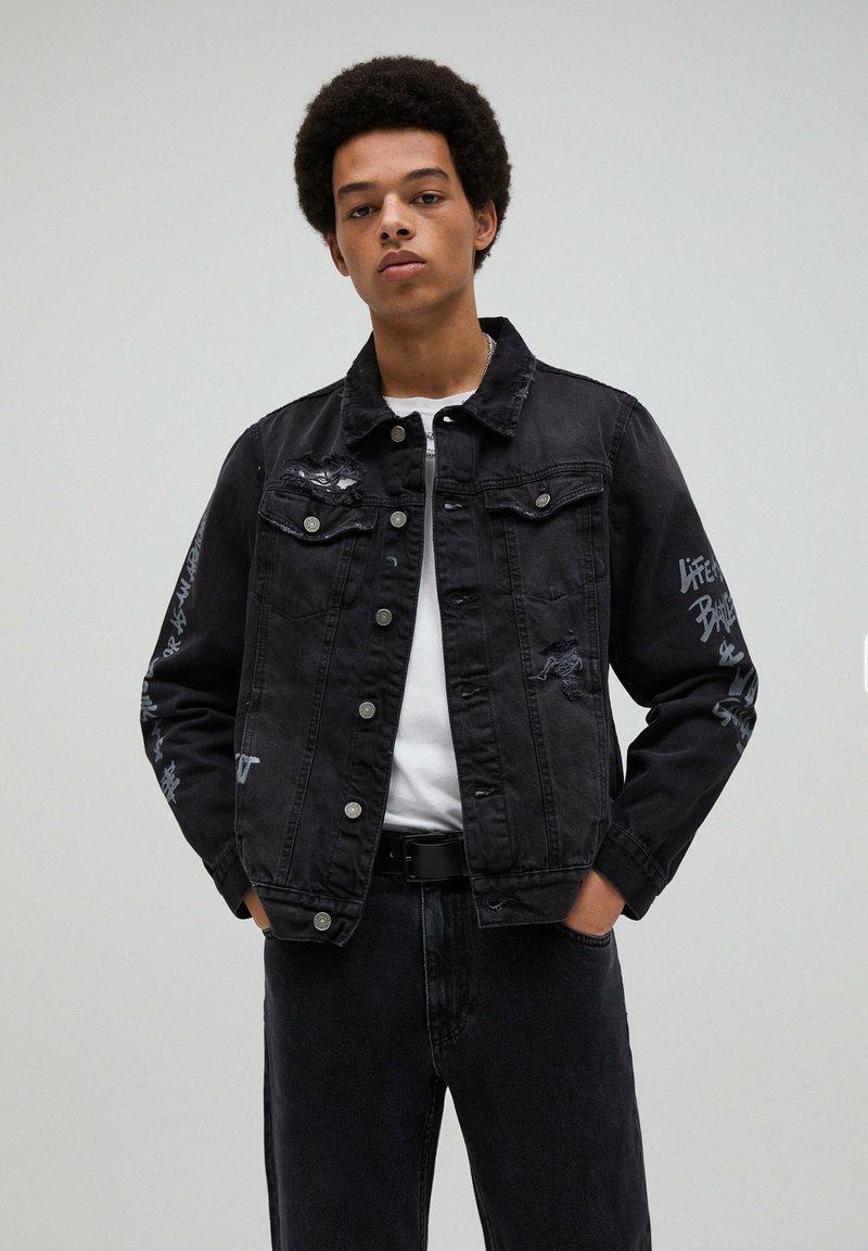 PULL&BEAR - Giacca di jeans - black