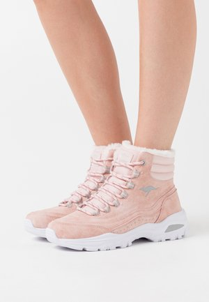 KW-LOOMY - Lace-up ankle boots - dusty rose/vapor grey