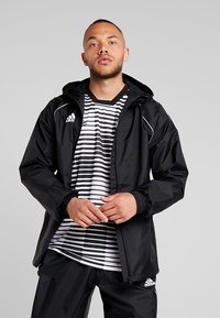 adidas Performance - CORE ELEVEN FOOTBALL JACKET - Hardshell-jakke - black/white - 0