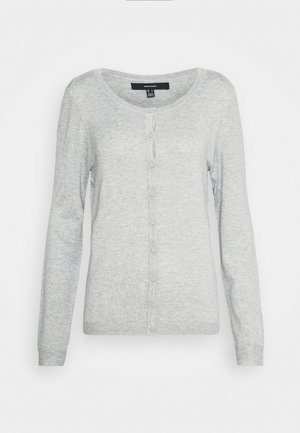 VMNELLIE GLORY O NECK CARDIGAN - Strickjacke - light grey melange