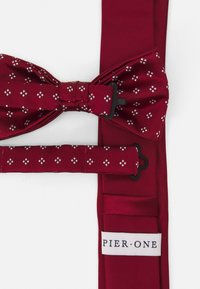 Pier One - SET - Tie - dark red - 3