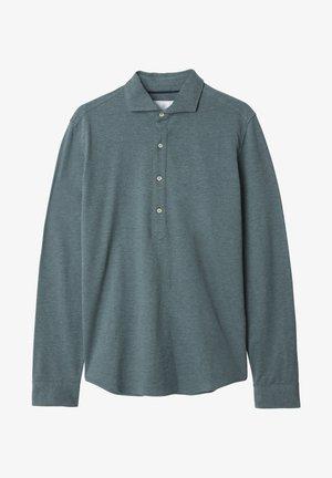 Polo shirt - green melange