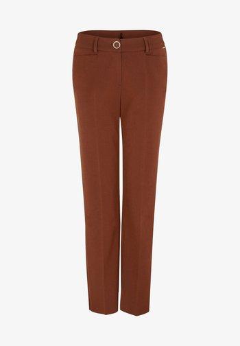 REGULAR FIT - Trousers - dark red velvet