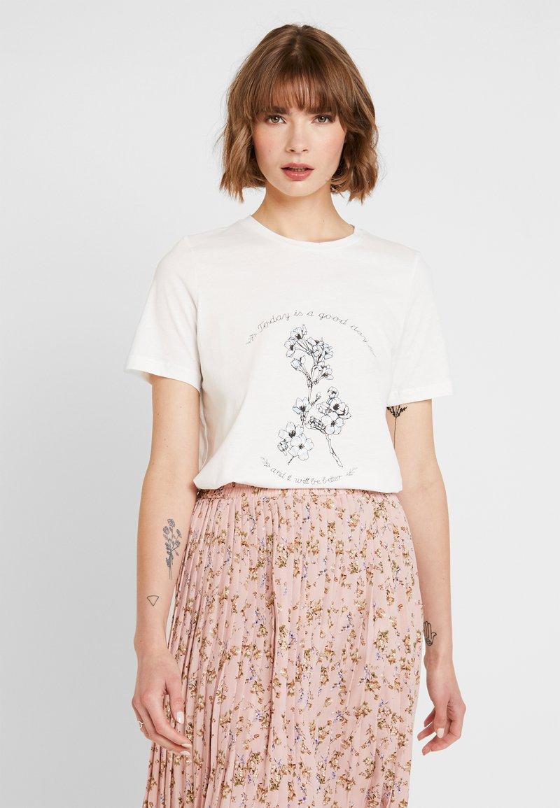 Vero Moda - VMKALOPSIA - Print T-shirt - snow white