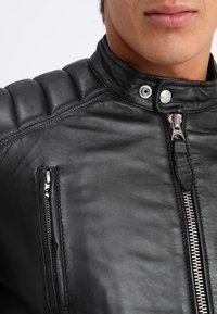 Schott - FUEL - Leather jacket - black - 5