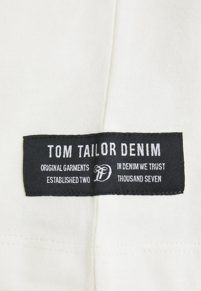 TOM TAILOR DENIM HIGH COLLAR - Langarmshirt - white/offwhite xXE1hj