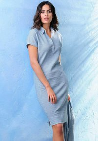 Alba Moda - Shirt dress - hellblau weiß - 6