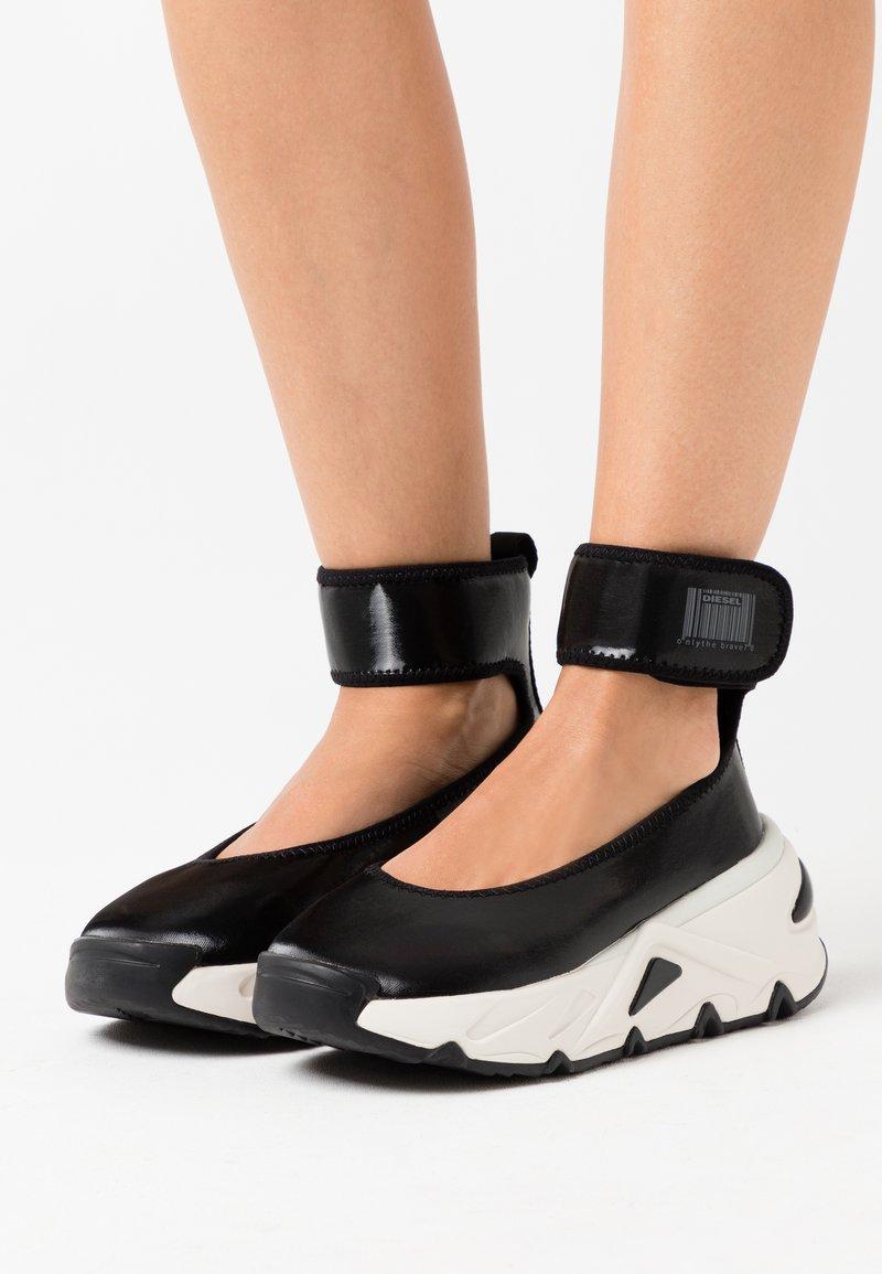 Diesel - HERBY S-HERBY BA W - Ankle cuff ballet pumps - black