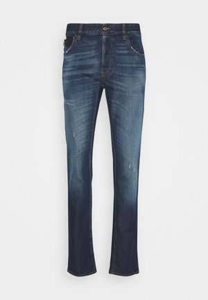 PANTALONE WITH LOGO - Slim fit jeans - blue denim