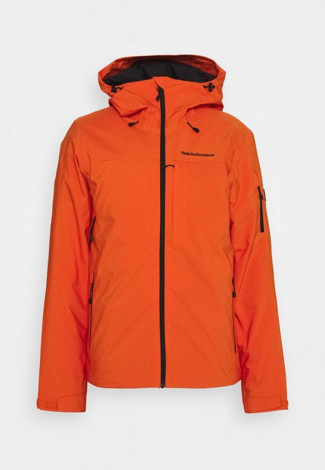 MAROON JACKET - Skijacke - orange altitude