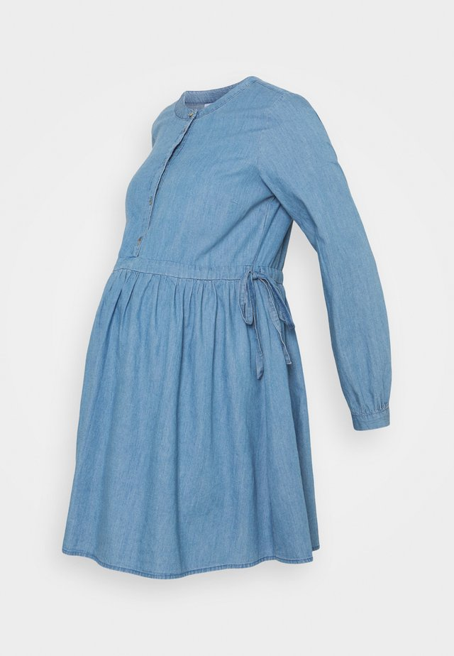 MLSTINA  WOVEN TUNIC - Blůza - light blue/chambray