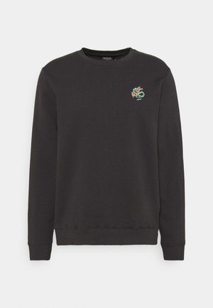SNAKE AND ROSE EMBROIDERED - Sweatshirt - stone