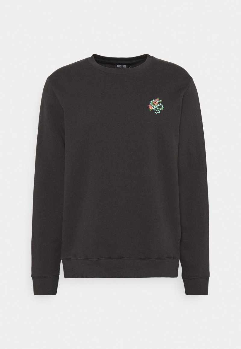 Burton Menswear London - SNAKE AND ROSE EMBROIDERED - Sweater - stone