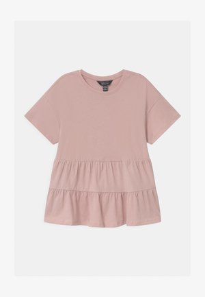 PEPLUM TIERED - T-shirt con stampa - pink