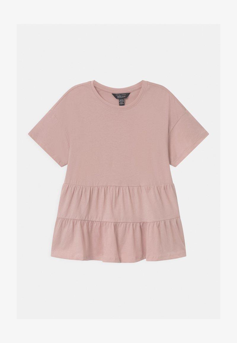 New Look 915 Generation - PEPLUM TIERED - Print T-shirt - pink