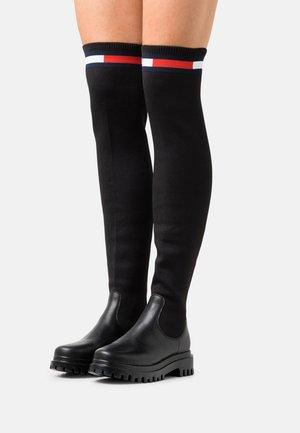 BOOT - Overknee laarzen - black