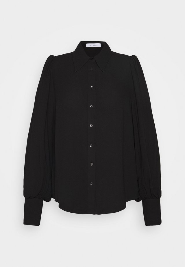 PUFFY SLEEVE BLOUSE - Bluzka - black