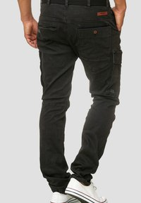 INDICODE JEANS - RAYANE - Cargo trousers - black - 2