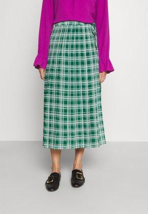 SKIRT - Pleated skirt - green