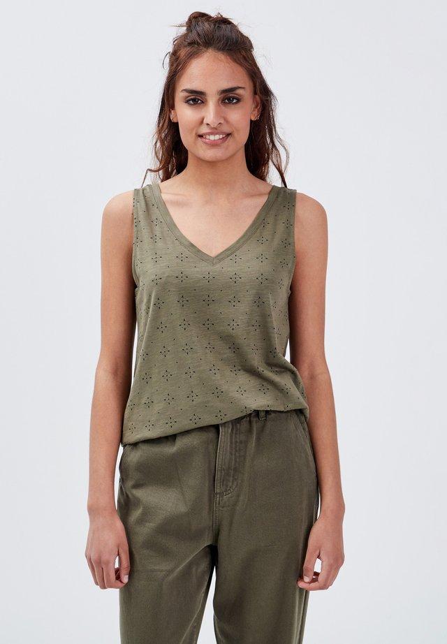 T-shirt print - vert kaki