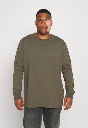 WORLDWIDE BACK PRINT - Maglietta a manica lunga - khaki