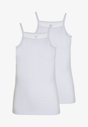 NKFSTRAP TOP 2 PACK  - Hemd - bright white