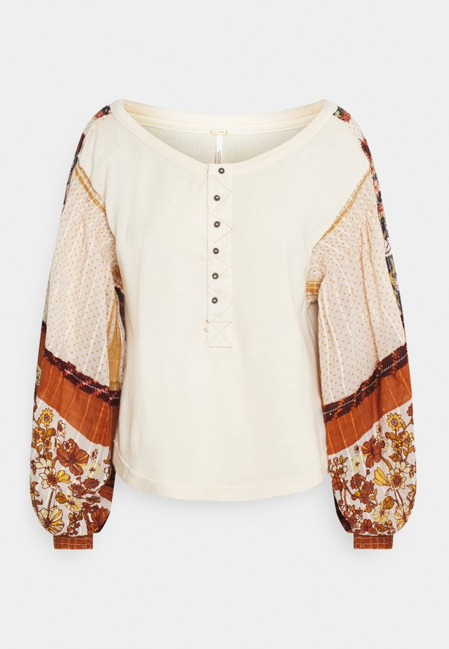 LIGHT MAGIC HENLEY - Sweatshirt - vanilla creme