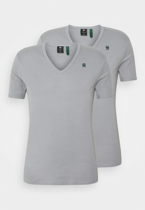 BASE V T 2 PACK - Basic T-shirt - steel grey