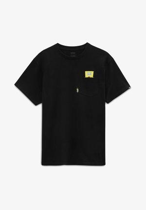 MN VANS X SPONGEBOB SPOTLIGHT POCKET SS - T-shirt imprimé - black