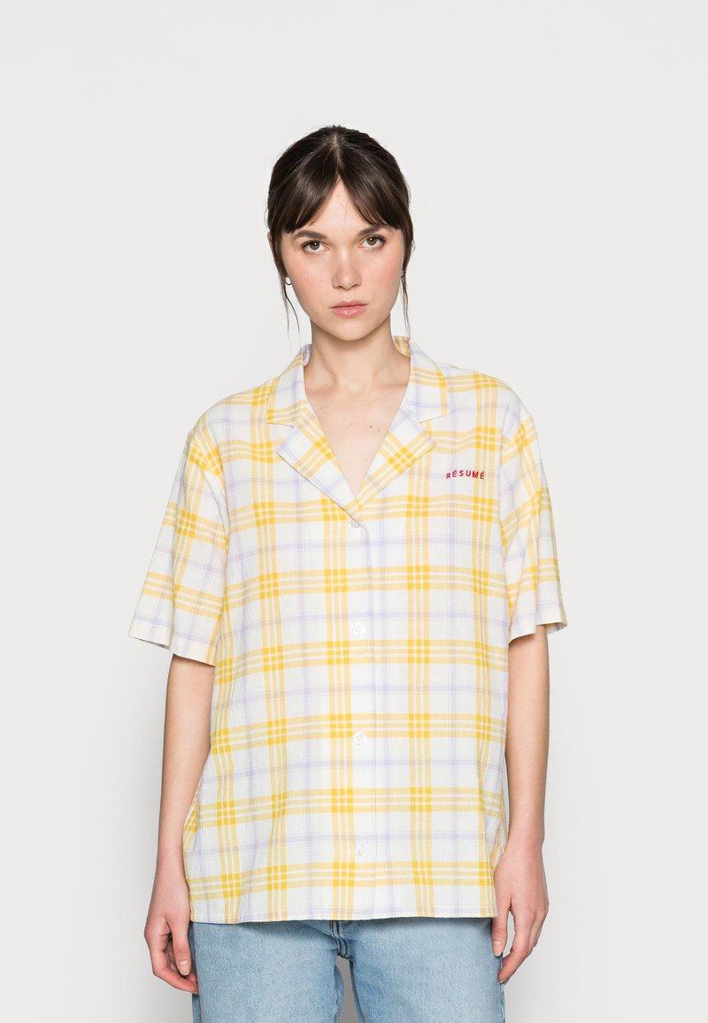 Résumé - ELISSAR SHIRT - Button-down blouse - yellow