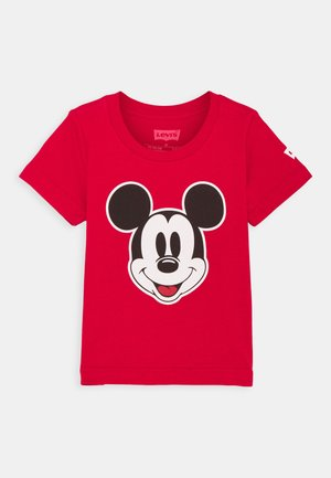 MICKEY MOUSE HEAD UNISEX - Print T-shirt - gym red