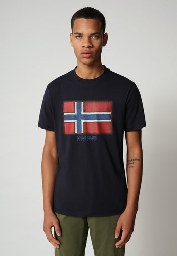 SIROL - Print T-shirt - blu marine