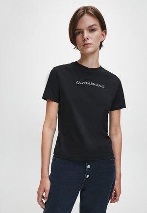 T-shirt con stampa - ck black