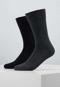 Levi's® - CUSHIONED REGULAR CUT 2PACK - Socks - anthracite melange/black - 0