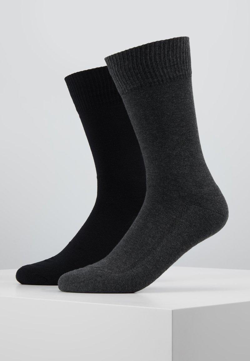 Levi's® - CUSHIONED REGULAR CUT 2PACK - Socks - anthracite melange/black
