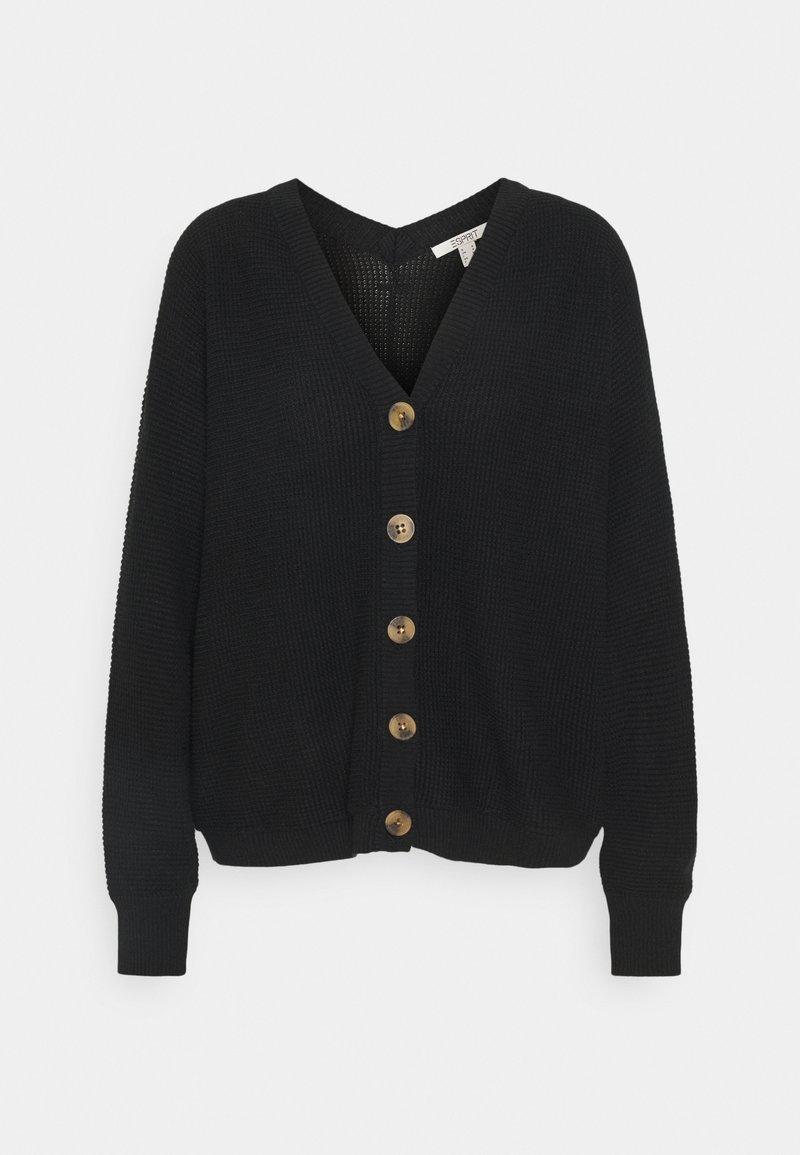 Esprit - CORE CARDIGAN - Cardigan - black