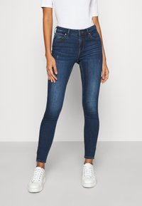 ONLY - ONLKENDELL LIFE ANKLE - Jeans Skinny Fit - dark blue denim - 0