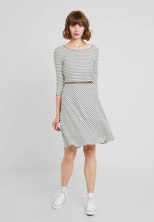 Day dress - snow white/black