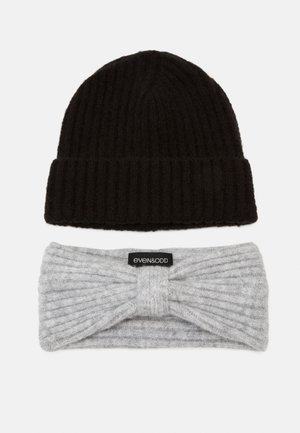 SET - Ear warmers - grey/black