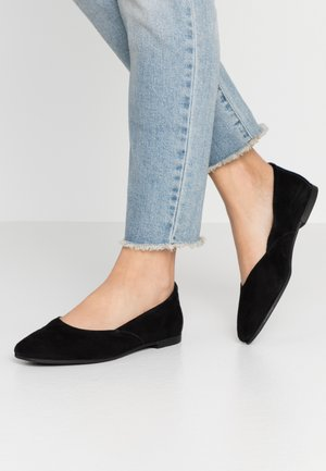 LEATHER BALLET PUMPS - Ballet pumps - black