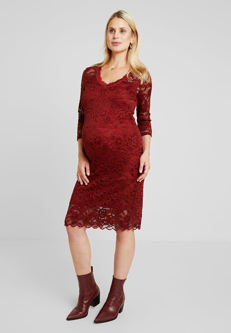 MAMALICIOUS - MLMIVANA DRESS - Robe de soirée - fired brick